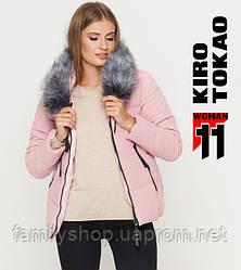 11 Киро Токао   Женская зимняя куртка 6529 пудра