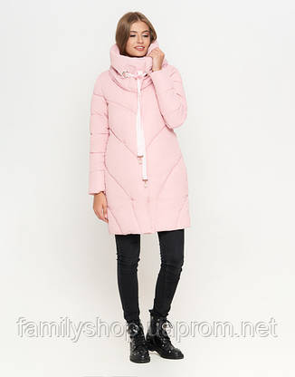 11 Kiro Tokao | Зимняя женская куртка 808 пудра, фото 2
