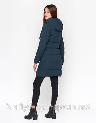 11 Kiro Tokao | Женская зимняя куртка 8180 синяя, фото 2