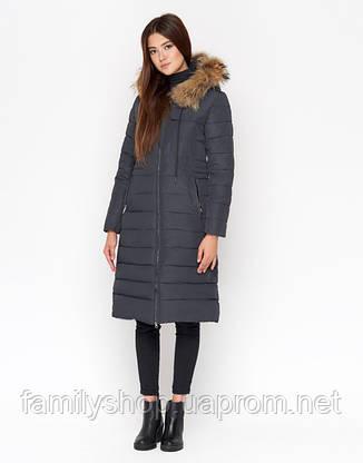 11 Kiro Tokao | Зимняя женская куртка 9615 серая, фото 2