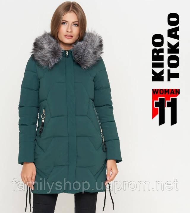 11 Kiro Tokao | Женская зимняя куртка 6372 зеленая
