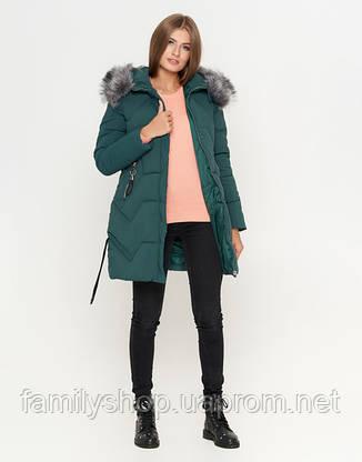 11 Kiro Tokao | Женская зимняя куртка 6372 зеленая, фото 2