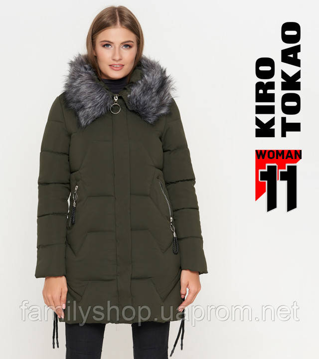 11 Kiro Tokao   Куртка женская зимняя 6372 оливковая