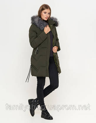 11 Kiro Tokao   Куртка женская зимняя 6372 оливковая, фото 2