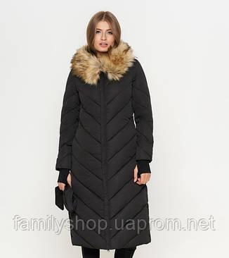 11 Киро Токао | Куртка женская на зиму 1763 черная, фото 2