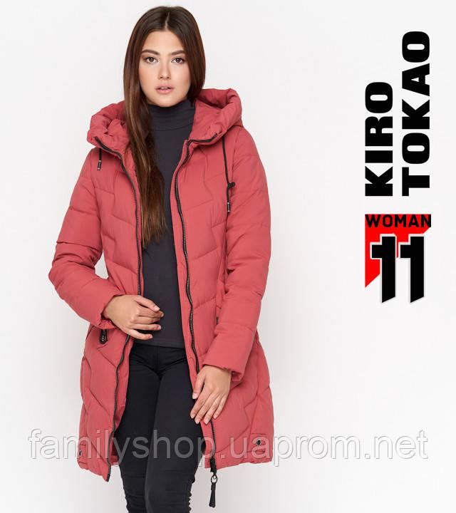 11 Kiro Tokao | Теплая женская куртка 806 розовая
