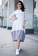 f8ac3ffa866 Серое Платье EVA Хлопковое в Мелкую Клетку — в Категории