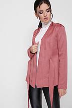 Женский замшевый пиджак с поясом (Virginia fup), фото 3