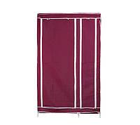 Портативный тканевый шкаф-органайзер для одежды на 2 секции - бордовый