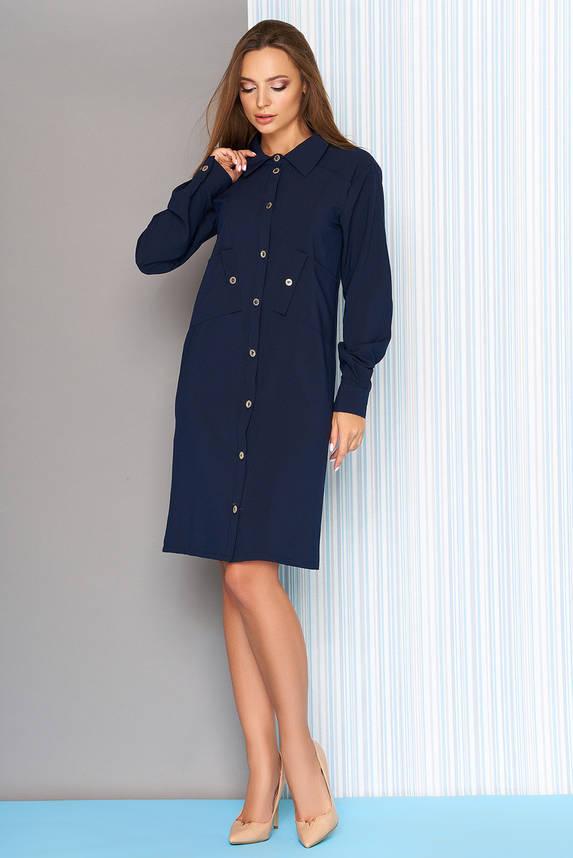 Платье рубашка с косыми карманами 44-54р, фото 2