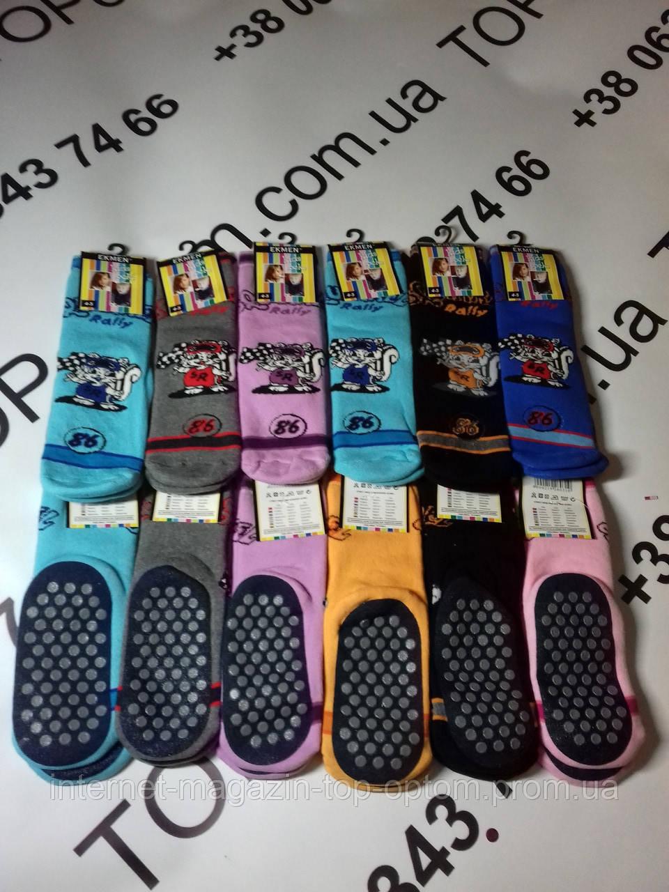 Шкарпетки дитячі махрові з прорезіновою підошвою Ekmen