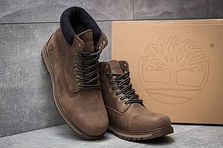 Мужские зимние ботинки Timberland из натуральной кожи коричневые, фото 2