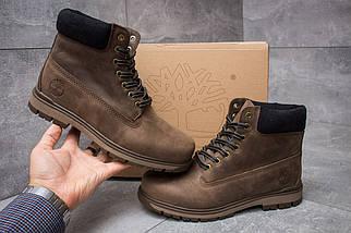 Мужские зимние ботинки Timberland из натуральной кожи коричневые, фото 3