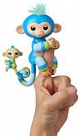 Интерактивная гламурная обезьянка Билли с мини-обезьянкой WowWee Fingerlings, фото 1
