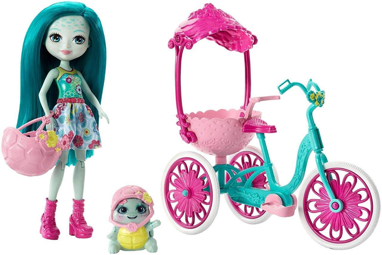 Игровой набор Enchantimals Энчантималс прогулка на велосипеде Тейли и Черепашка