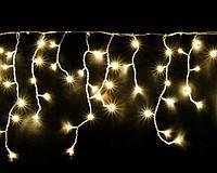 "Светодиодная гирлянда мерцающая ""ICICLE 75 LED"" наружная 2*0.7(белый провод,теплый белый цвет диода), фото 2"