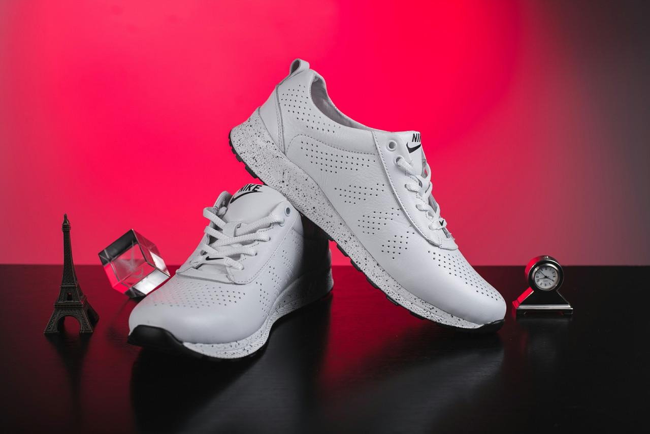 Женские кроссовки кожаные весна/осень белые на шнурках Onward 222 3