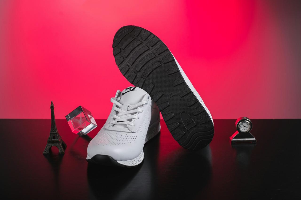 Женские кроссовки кожаные весна/осень белые на шнурках Onward 222 4