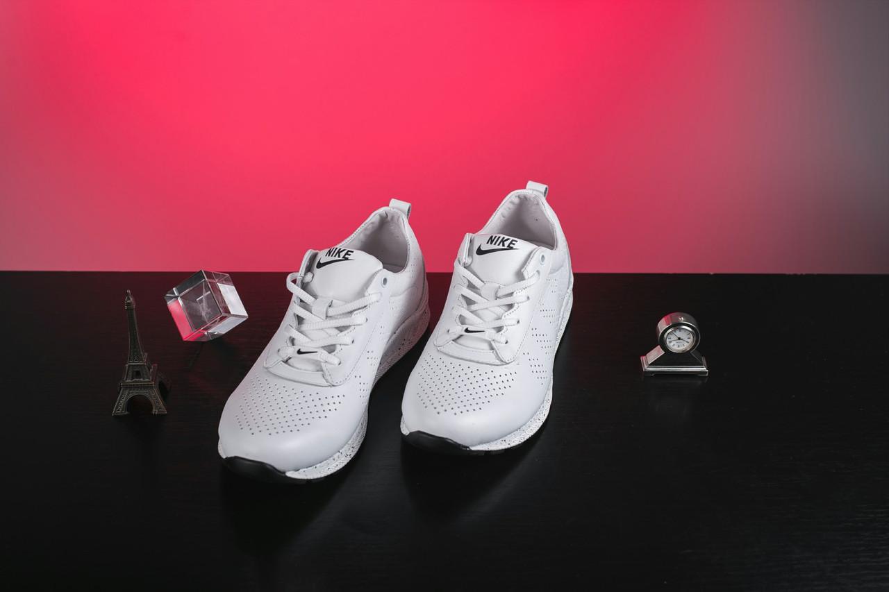 Женские кроссовки кожаные весна/осень белые на шнурках Onward 222 5