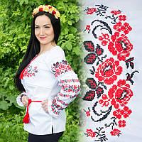 Женская вышитая рубашка Три розы