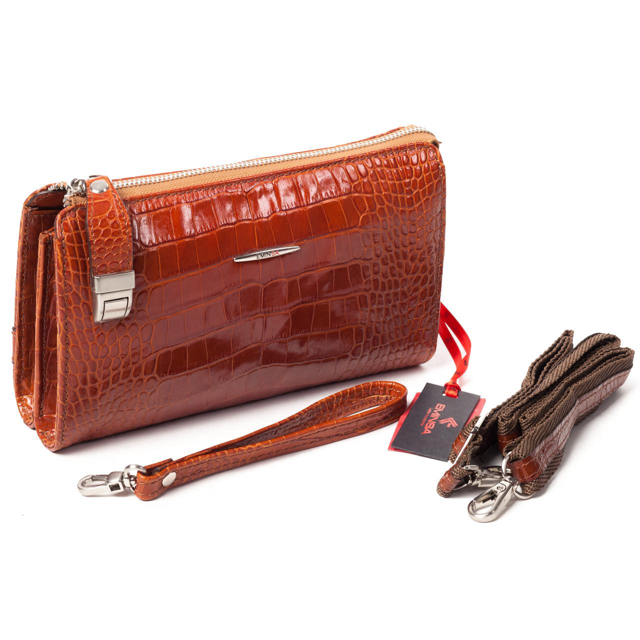 Мужской клатч кожаный коричневый Eminsa 5091-4-2