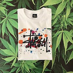 Белая футболка Stussy Graffity