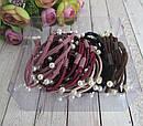 Резинки для волос с цветные с жемчугом 30 шт/уп., фото 3