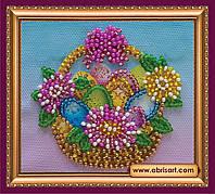 Набор для вышивки бисером ТМ АБрис Арт «Магнит» Пасхальная корзинка-1