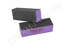 Баф-пилочка Heart 80/80  (Фиолетовая)