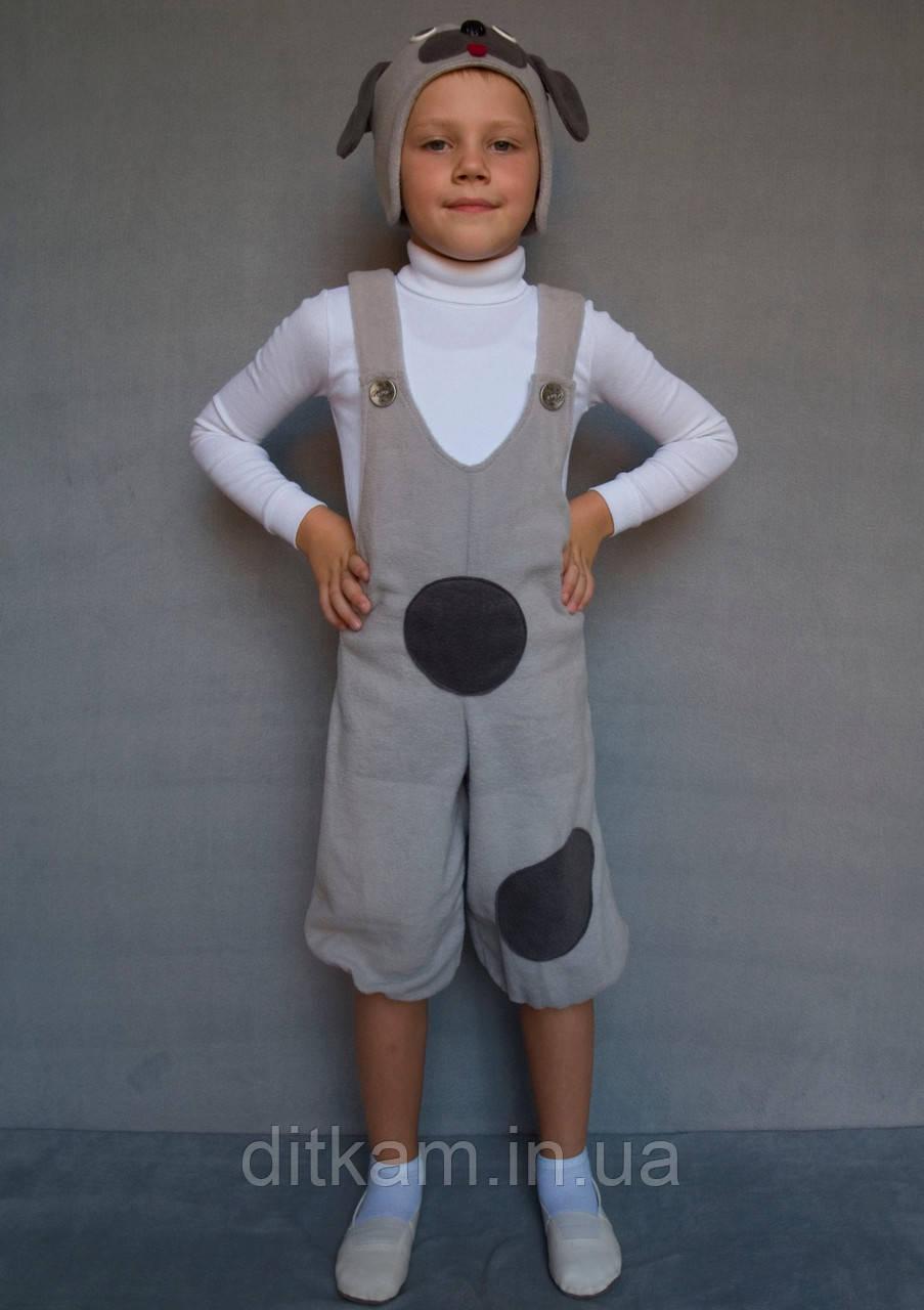 Карнавальный костюм Собачка №1 (серый)