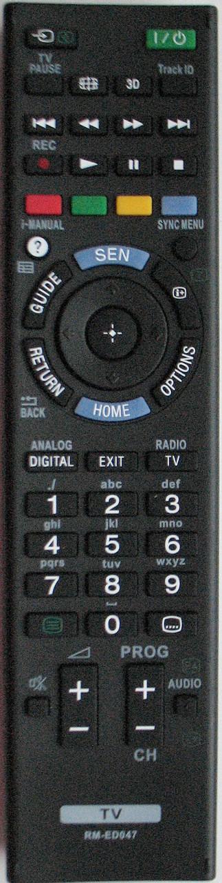 Пульт для телевизора SONY.3D Модель RM-ED047