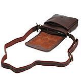 Шкіряна чоловіча сумка через плече, фото 3