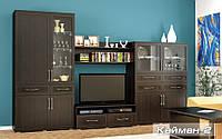 Мебель-Сервис  гостиная Кайман 2 2130х3450х550мм венге темный