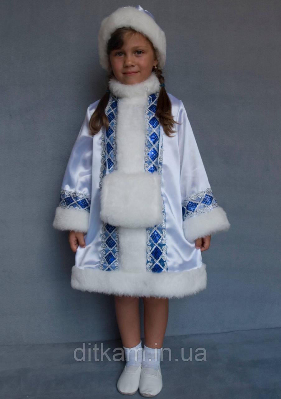 Карнавальный костюм Снегурочка №1 (белый)