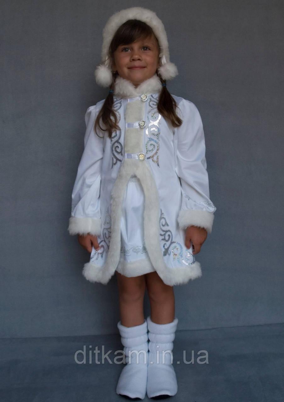 Карнавальный костюм Снегурочка №2 (белый)