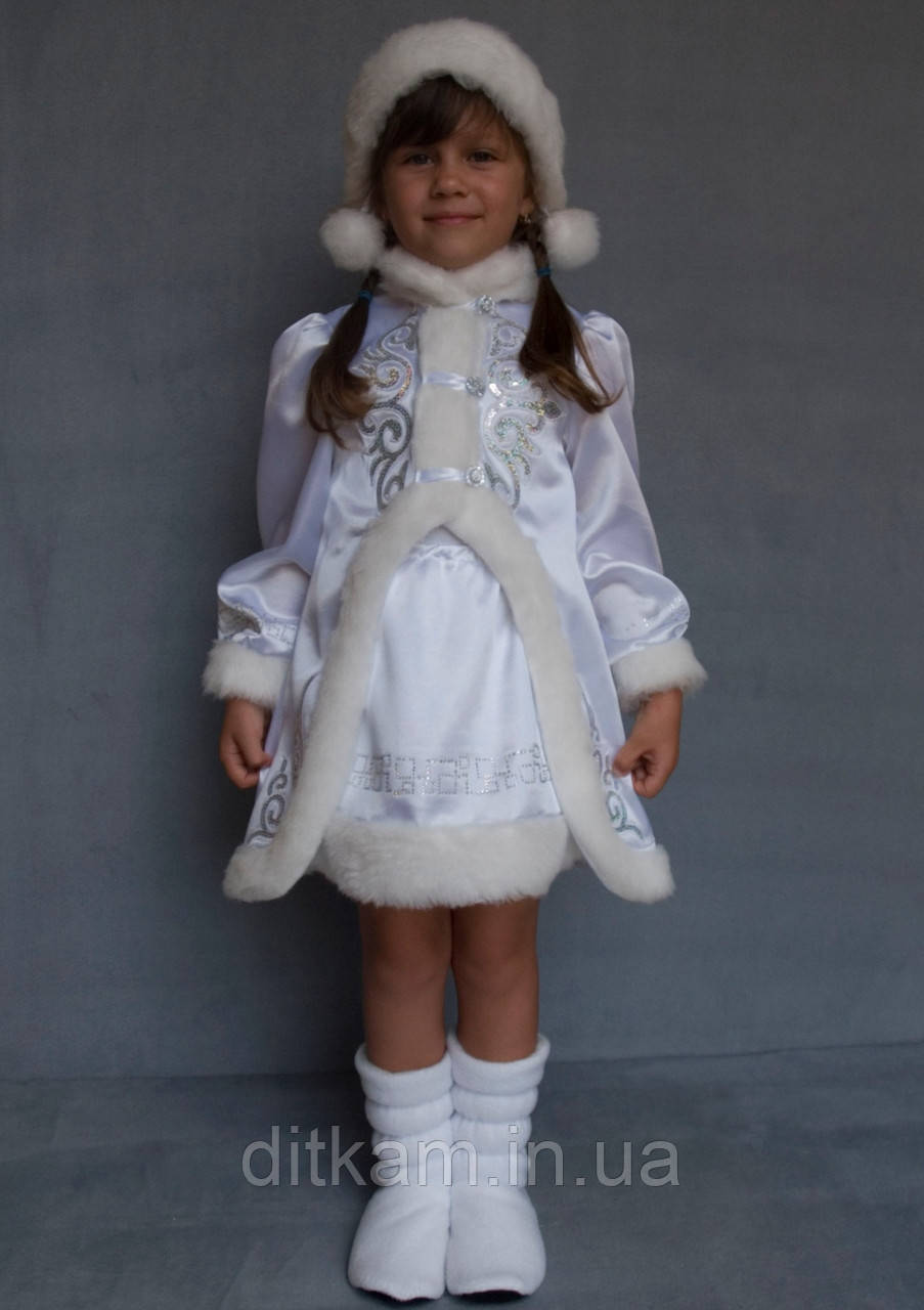 Карнавальный костюм Снегурочка №3 (белый)