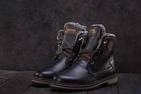 Подростковые ботинки кожаные зимние черные Zangak 137, фото 1