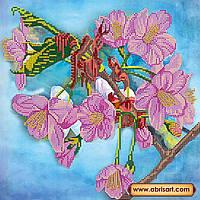 """Схема для вишивання бісером на натуральному художньому холсті """"Яблуневий цвіт"""""""