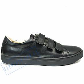 Мужские черные кожаные кроссовки весна - осень Ecco2, фото 2
