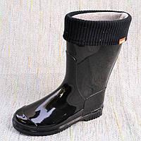 Черные резиновые сапоги, Alisa line размер 37 39