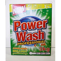 Профессиональный бесфосфатный стиральный порошок Power Wash для цветного белья (3 кг) Германия, фото 1