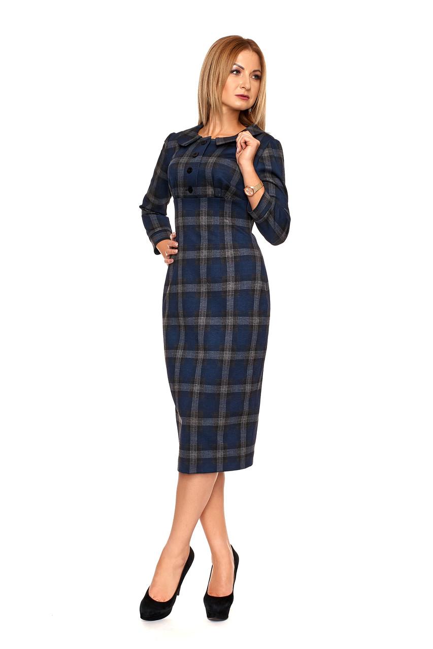 Осеннее женское платье №1105 (синий)