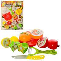 Продуктына липучке 6606F, фрукты, 4 предмета, досточка, нож 2шт, на листе, 28-39-4см