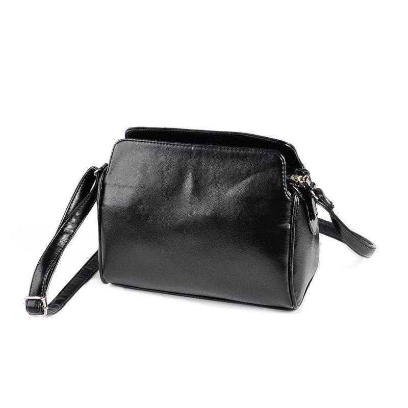fde28a6fd299 Женская сумка М128-Z/лак черная через плечо молодежная кросс-боди, фото