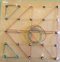 Математический планшет. Резиночки. Металлические штырьки., фото 1