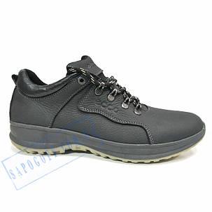 Мужские черные, демисезонные, кожаные кроссовки Ecco1, фото 2