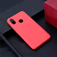 Чехол Xiaomi Mi Max 3 силикон soft touch бампер красный