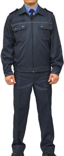 Костюм охранника  'Плаза' (куртка+брюки) цвет т.синий