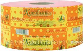 Бумага туалетная Джамбо Кохавинка  на гильзе (розовая) 120 м / 8 шт