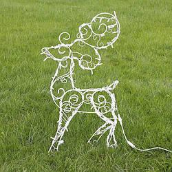 Новогодний Олень для сада с LED подсветкой 90 см